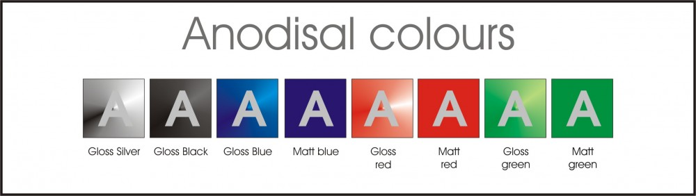 ANODISAL colour swatches