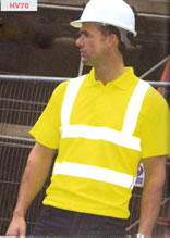 HV70 RTY High Visibility Polo shirt