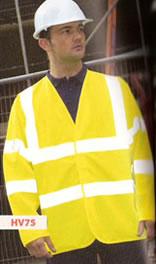 HV75 RTY High Visibility Motorway Coat