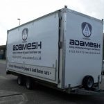 Decals fitted to the side of a trailer