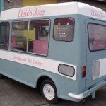 Die cut vinyl fitted to ice cream van
