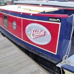 Full colour graphics fitted to boat side
