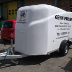 Vinyl graphics fitted to trailer