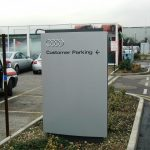 Aluminium Tray Panel   Totem Sign