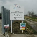 Plate And Post   Kee Standing Signs Mounted On Metal Posts