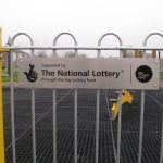 Plate And Post   National Lottery Aluminium Sign