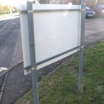 Plate And Post   Rear Fittings Post Mounted Sign