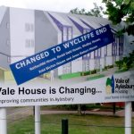 Plate And Post   Vale Housing Signs Mounted On Metal Posts