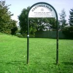 Plate And Post   Mounted Hoop Sign Local Park