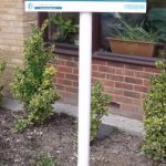 Plate And Post   Mounted Sign For Care Home