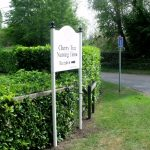 Sleeve System   Aluminium Arched Directional Sign