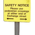 Traffic Signs   Aluminium Panel On Post
