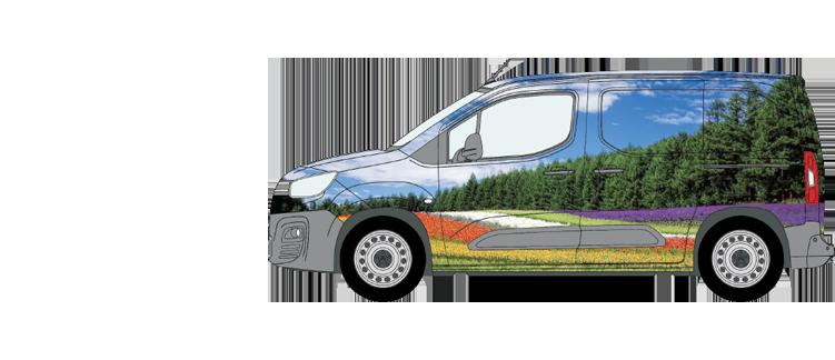 Citroen Berlingo Van Wrap Smaller