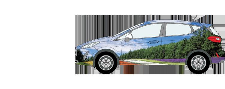 Ford Fiesta Car Wrap Smaller