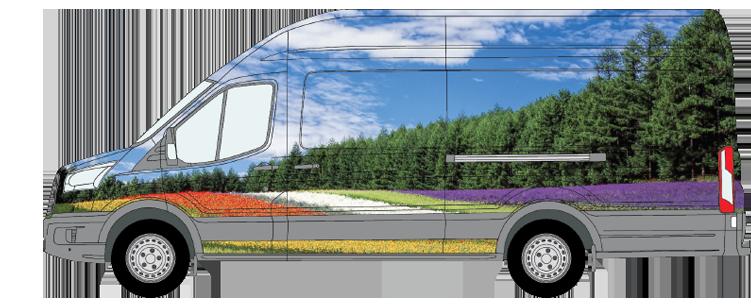 Transit XLWB High Roof Van Wrap Smaller