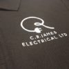 Embroidered Polo Shirt With Corporate Logo Workwear Uniform Impact Signs