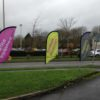 feather Flags Advertising Marketing Information External Outside Hardwearing Ground Spike Impact Signs