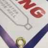 PVC Banner Brass Eyelets Full Col Advertising Outdoor Hardwearing Barrier Advertising Quality Premium - Impact Signs