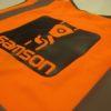 Orange Hi Viz Vest Printed Black   Impact Signs