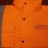Printed Orange Hi  Viz Jacket Workwear Clothing Impact Signs