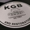 Printed Logo Close Up   High Quality Long Lasting KGB   Impact Signs