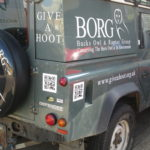 Give A Hoot die cut vinyl graphics