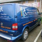 ILC Mobility vehicle vinyl graphics