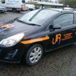 JR Plumbing car quality graphics