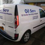 Oil Serv van graphics
