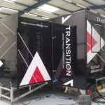 Transition Broadcast event branding and advertising graphics